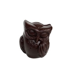 MOULAGE HIBOU CHOCOLAT NOIR